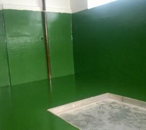 Malowanie płytek ok. Ral 6002 Zielony liściasty