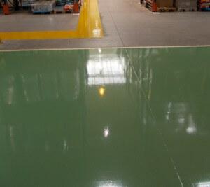 Malowanie linii ok. RAL 6021 Zielony jasny