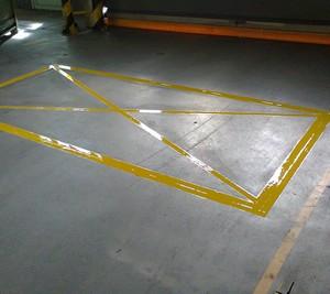 Malowanie linii ok. RAL 1023 Żółty