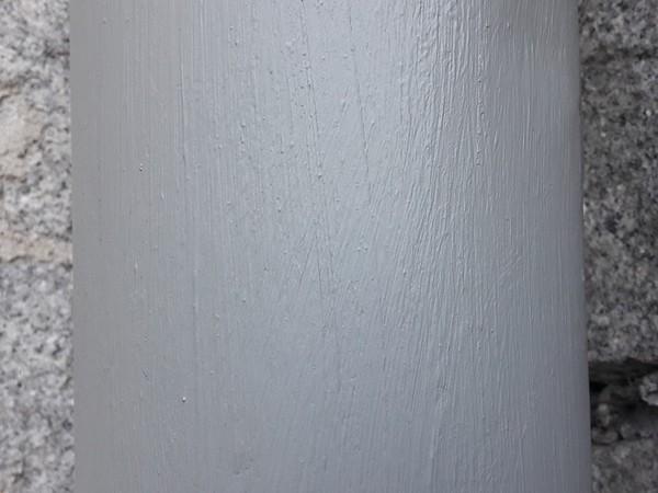 Rynna pomalowana farbą antykorozyjną Elastometal