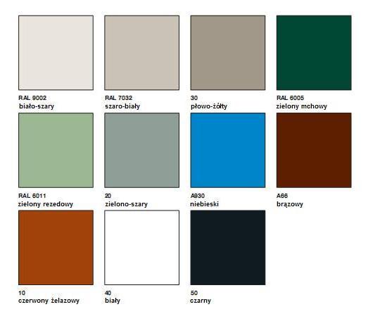 farba antykorozyjna noxyde - kolory