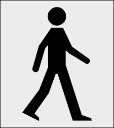 Przejście dla pieszych, strefa szablon malarski