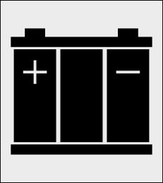 Akumulator szablon do malowania znak