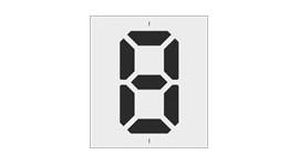 Szablony malarskie cyfry LCD