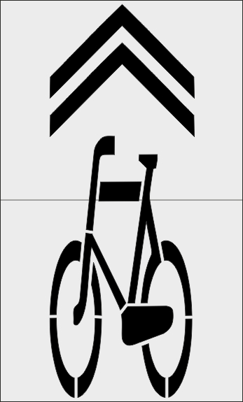 Szablon znaku P-27 Kierunek i tor ruchu roweru
