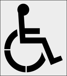 Szablon znaku P-24 Miejsce dla osoby niepełnosprawnej