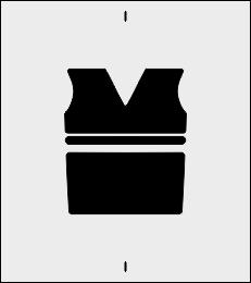 Kamizelka ostrzegawcza szablon do malowania