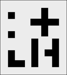 Szablon Oznaczenia linii 8 cm
