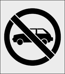 Zakaz parkowania szablon do malowania