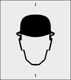 Szablon do znakowania Ochrona głowy