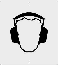 Szablon do znakowania Ochrona słuchu