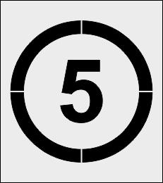 Szablon znaku ograniczenie prędkości 5 km/h