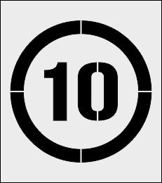 Ograniczenie prędkości 10 km/h szablon do malowania
