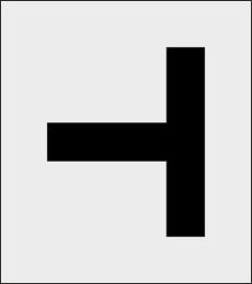 Oznaczenia parkingowe T szablon do malowania