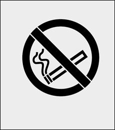 Zakaz palenia szablon do malowania