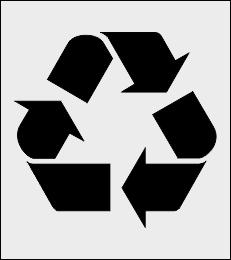 Recykling szablon do malowania znak