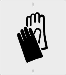 Rękawice ochronne szablon do malowania