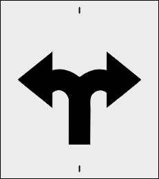 Rozjazd w lewo w prawo szablon do malowania