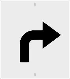 Skręt w prawo/lewo szablon do malowania