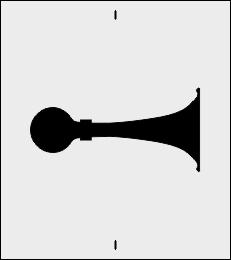 Sygnał dźwiękowy szablon do malowania znak