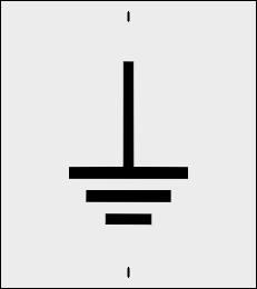 Znak uziemienia szablon do malowania
