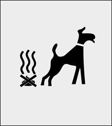 Zakaz psów szablon do malowania