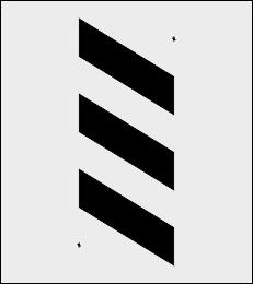 Zebra ostrzegawcza szablon do malowania
