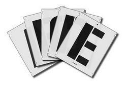 Szablony malarskie liter