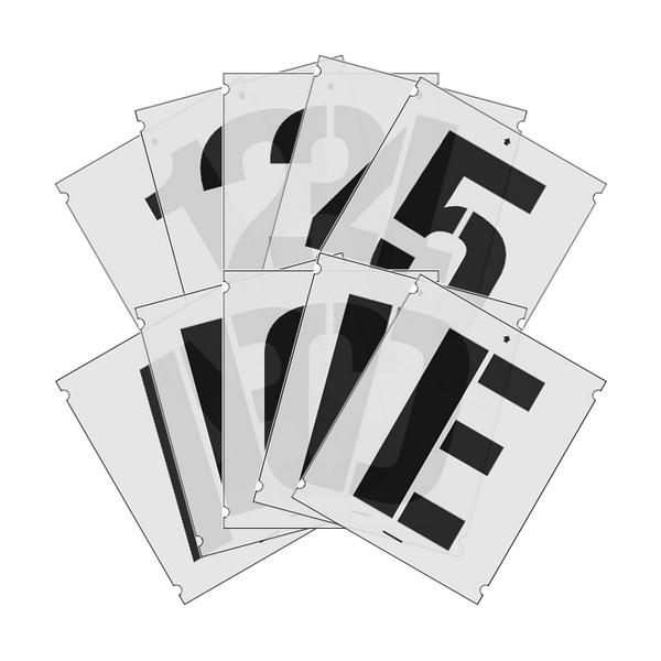 Szablony malarskie cyfr i liter