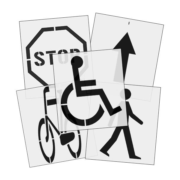 Szablony malarskie znaków drogowych, parkingowych