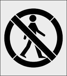 Zakaz ruchu pieszego szablon malarski