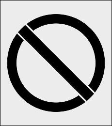 Znak zakazu ogólny szablon malarski