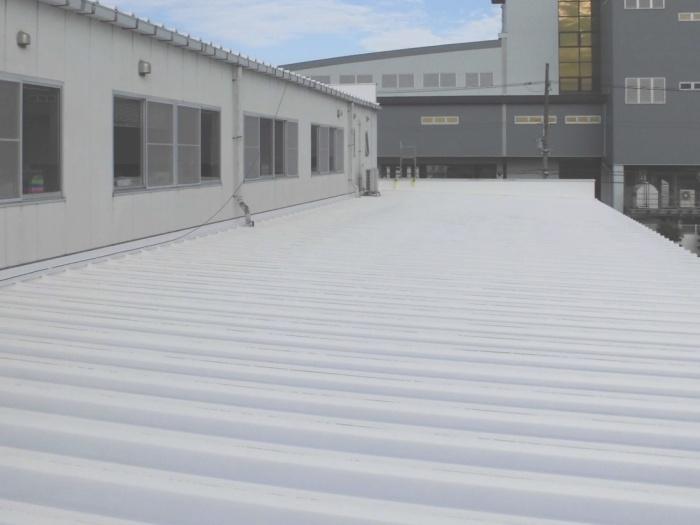 Białe dachy przemysłowe