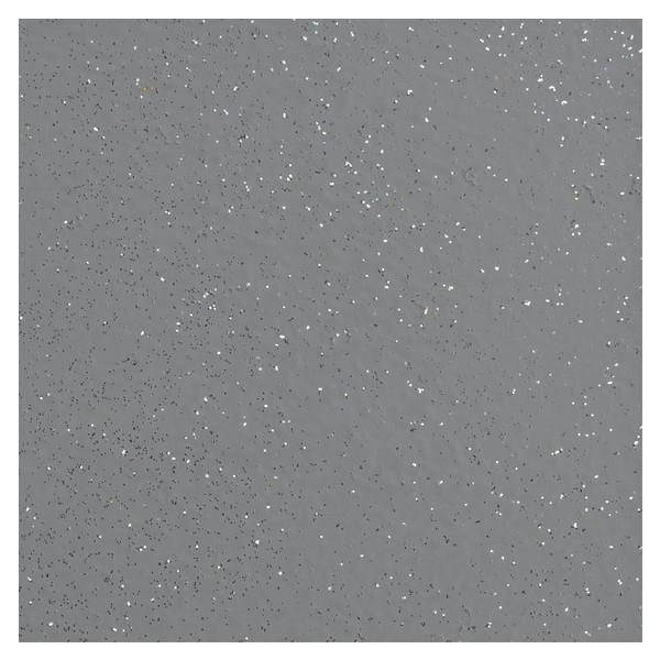 Brokat srebrny na szarej posadzce - ujęcie z góry