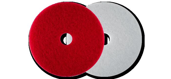 czerwony, biały pad