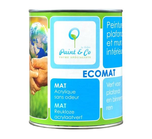 Farba ekologiczna do wnętrz matowa Ecomat