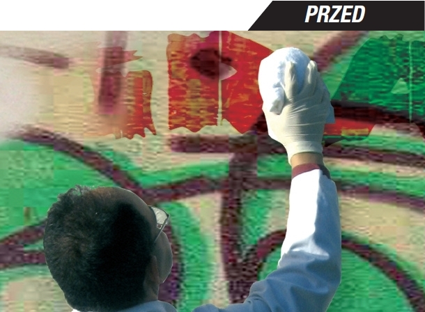 Środek do usuwania graffiti ze ścian, elewacji