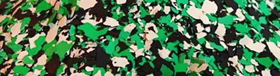 Płatki dekoracyjne kość słoniowa, zielony, czarny