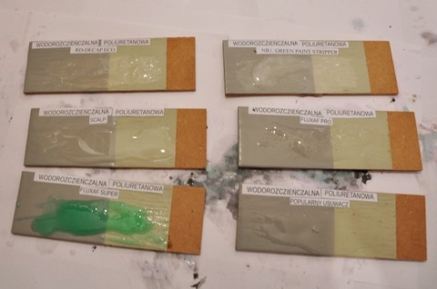 Usuwanie farby poliuretanowej wodorozcieńczalnej