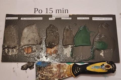 Środki do usuwania farby poliasparginowej