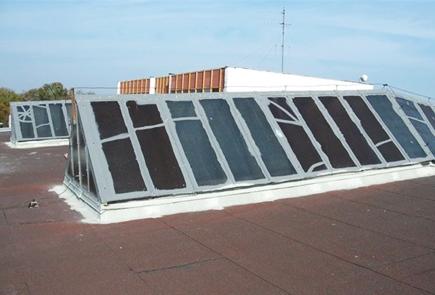 Malowanie dachu przemysłowego