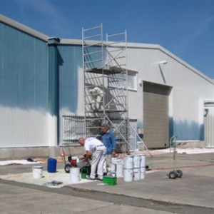 Renowacja płyt i paneli warstwowych RAL 8022