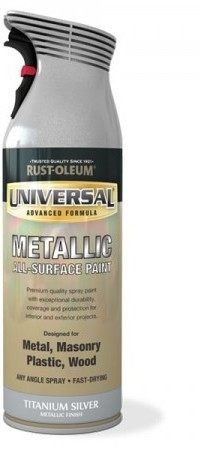 Universal spray paint metallic