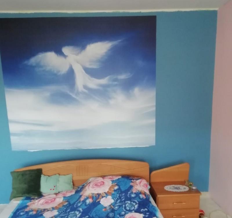 Farba Deco Acryl na ścianie