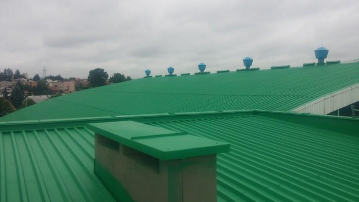 Preparat antykorozyjny, uszczelniający Elastometal RAL 6032 na dachu