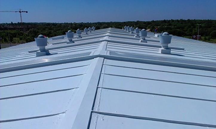 Preparat antykorozyjny, uszczelniający Elastometal RAL 7035 na dachu