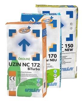 Masy mineralne Uzin NC 150 New, NC 170 LevelStar New i in.