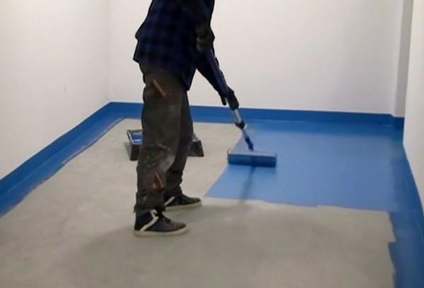 Malowanie posadzki w garażu