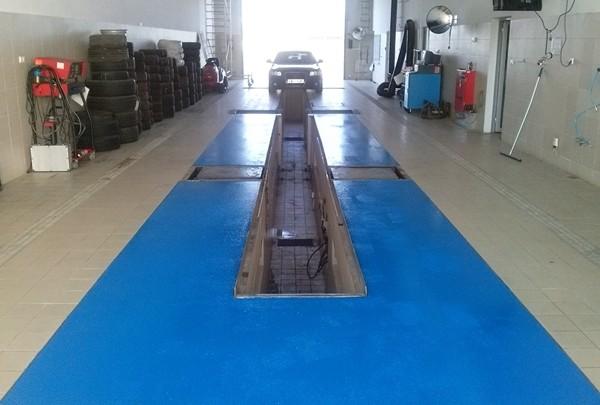 Podłoga antypoślizgowa do warsztatów, myjni, garaży, parkingów
