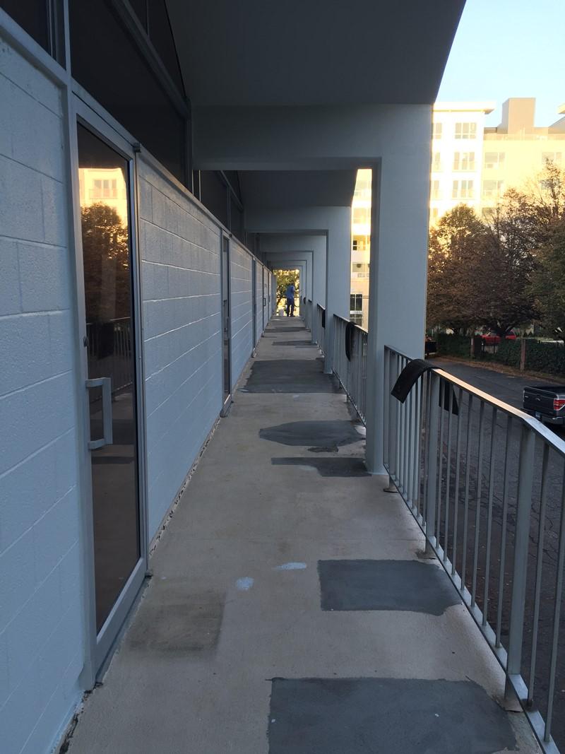 Renowacja balkonu - przed malowaniem